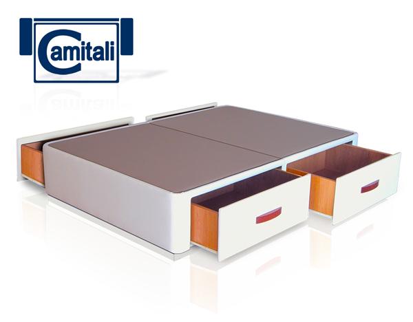 Cama con cajones laterales ct4 zr for Canape para cama
