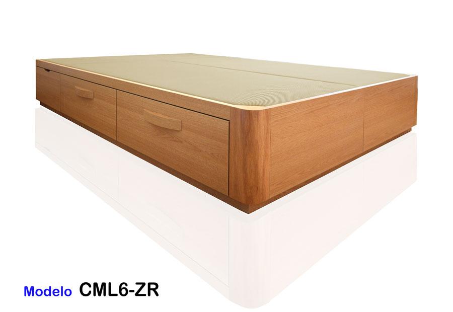 Canap de madera con cajones laterales - Canape con cajones conforama ...